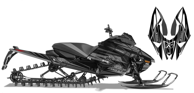 Chris-burandt Arctic Cat next-gen-ascender burandt evolution Sled Wrap Design