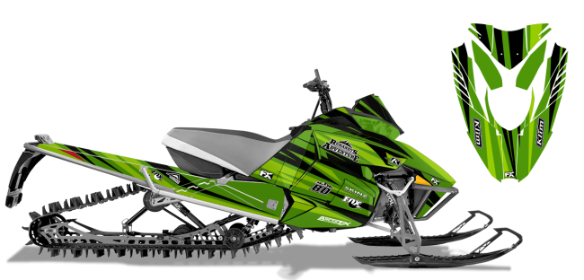 Chris-burandt Arctic Cat procross-proclimb burandt evolution Sled Wrap Design