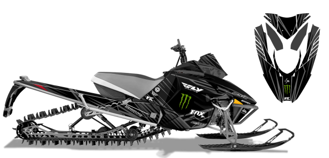 Paul-thacker Arctic Cat procross-proclimb thacker kryptonite Sled Wrap Design