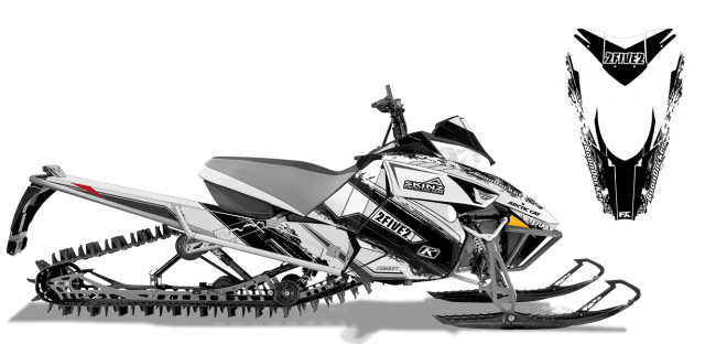 Cole-willford Arctic Cat procross-proclimb willford 2five2 Sled Wrap Design