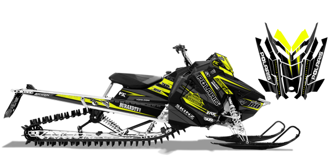 Chris-burandt Polaris AXYS-RMK burandt complete the fleet 2016 Sled Wrap Design