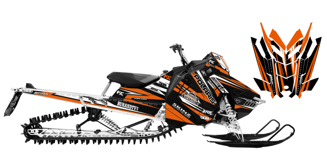 Chris-burandt Polaris AXYS-RMK burandt signature 2015 Sled Wrap Design