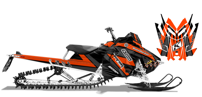 Keith-curtis Polaris axys-rmk curtis mountain king Sled Wrap Design