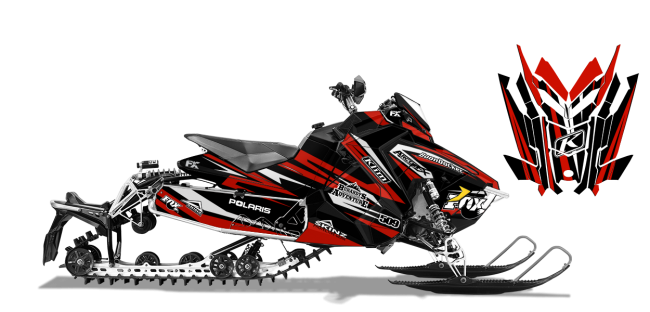 Chris-burandt Polaris axys-rush-switchback burandt evolution Sled Wrap Design