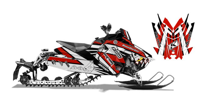Keith-curtis Polaris axys-rush-switchback curtis mountain king Sled Wrap Design