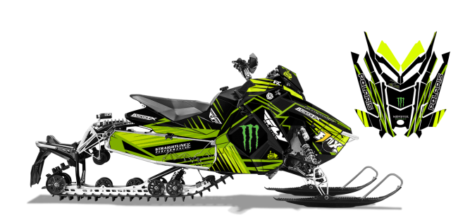 Paul-thacker Polaris axys-rush-switchback thacker kryptonite Sled Wrap Design