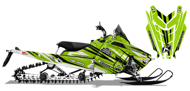 Chris-burandt Polaris proride-rmk burandt evolution Sled Wrap Design