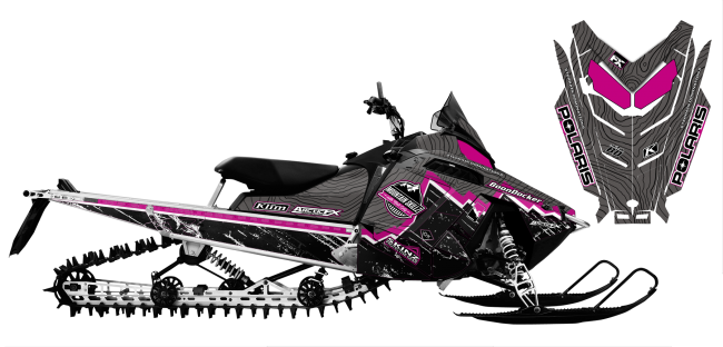 Matt-entz Polaris rush-rmk entz signature 2016 Sled Wrap Design