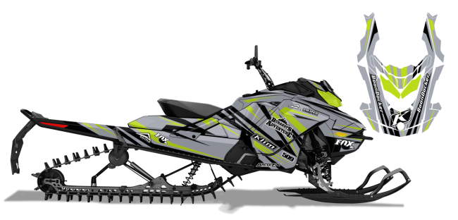 Chris-burandt Skidoo rev-gen4 burandt evolution Sled Wrap Design