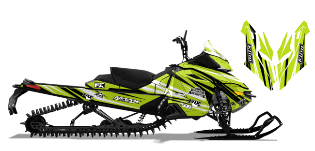 Chris-burandt Skidoo rev-xm burandt evolution Sled Wrap Design
