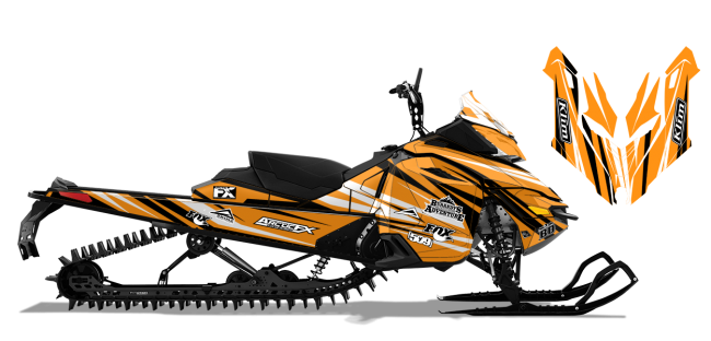 Chris-burandt Skidoo rev-xs burandt evolution Sled Wrap Design