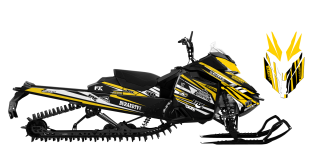 Chris-burandt Skidoo XM-XS burandt signature 2015 Sled Wrap Design