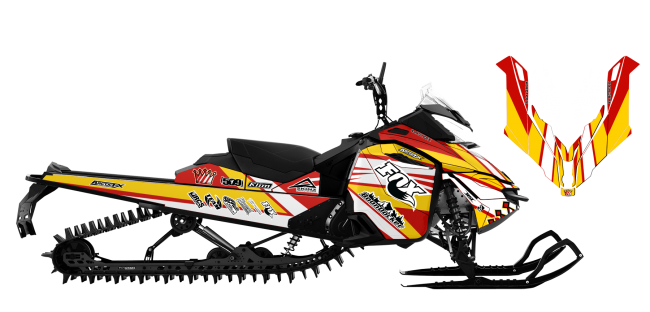 Keith-curtis Skidoo XM-XS curtis signature 2015 Sled Wrap Design